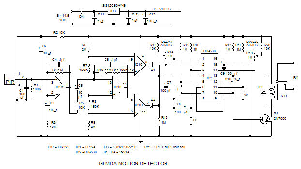 pc board layout for motion detector rh glolab com Infrared Motion Sensor Circuit Diagram Motion Sensor Wiring Diagram